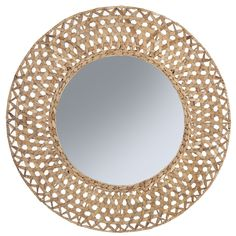 Beautify any wall in your home with the stunning, woven, natural fibre frame of the Riviera Round Wall Mirror (Set of from Amalfi. Wall Mirrors Set, Home Decor Mirrors, Round Wall Mirror, Mirror Set, Black Mirror, Buy Furniture Online, Furniture Sale, Cheap Furniture, Botanical Decor