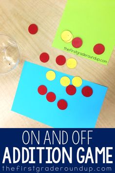 Primary Math Games: On and Off Primary Maths Games, Kindergarten Math Activities, Kindergarten Lesson Plans, Teaching Math, Learning Activities, Addition Games, Addition And Subtraction, First Grade Lessons, I Love Math