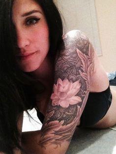 Lotus sleeve tattoo designs for women   tatuajes | Spanish tatuajes  |tatuajes para mujeres | tatuajes para hombres  | diseños de tatuajes http://amzn.to/28PQlav