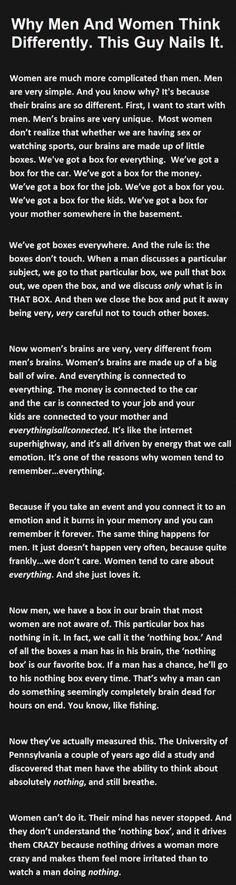 Dump A Day Why Men And Women Think Differently (So True...)