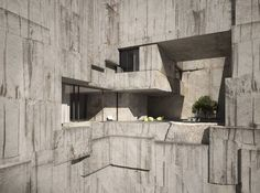 Apartment Carrara Quarry auf www. Concrete Architecture, Concrete Building, Futuristic Architecture, Amazing Architecture, Landscape Architecture, Interior Architecture, Concrete Board, Stone Quarry, Architecture Visualization