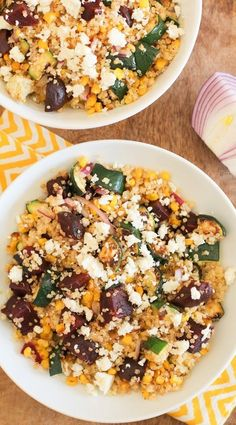 Grilled Zucchini, Corn, and Beet Quinoa Salad with Lime Dressing