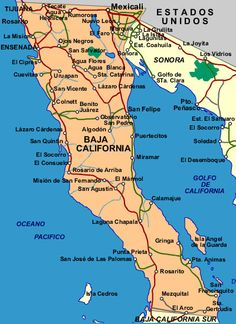 33 Best My Baja Maps ~ images | Mexico, Travel, California map