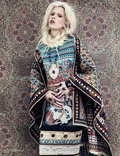 ╰☆╮Boho chic bohemian boho style hippy hippie chic bohème vibe gypsy fashion indie folk the . Fashion Prints, Fashion Art, Editorial Fashion, High Fashion, Fashion Design, Ethnic Fashion, Boho Fashion, Womens Fashion, Style Russe
