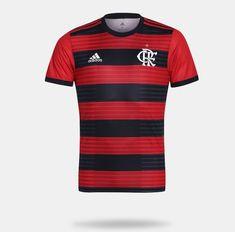 1c5e01bbc84 Camisa Flamengo I 2018 s n° Torcedor Adidas Masculina - Vermelho e Preto