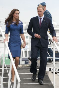 Prince William, Duke of Cambridge and Catherine, Duchess of Cambridge disembark HMCS Montreal in Champlain Harbour on July 3, 2011 in Quebec, Canada. The newly married Royal Couple are on the fourth day of their first joint overseas tour.