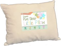 Toddler Pillow With Soft ORGANIC Cotton Shell and Premium Hypoallergenic Fiber. Designed With Upper Cervical Specialist for Best Neck Support for Kids ages 2+. Made in the USA by Dreamtown Kids.