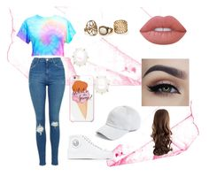 """""""🌈🌈🌈🌈"""" by frania-hernandez on Polyvore featuring Topshop, Versus, Kendra Scott, Lime Crime, rag & bone and Kate Spade"""