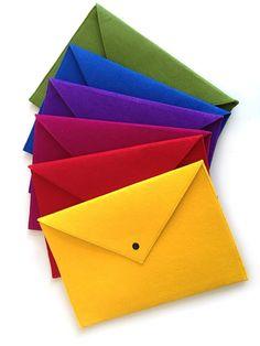 Envelope Style Felt Laptop Sleeve File Folder by Feltistry on Etsy, $15.75