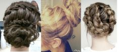 braided updos are unique for a bridesmaid