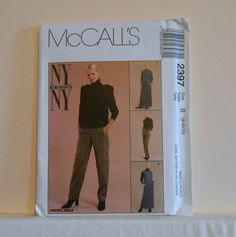 McCall's 2397 Turtle Neck Boxy Top Vest Pants Maxi by filecutter, $3.25