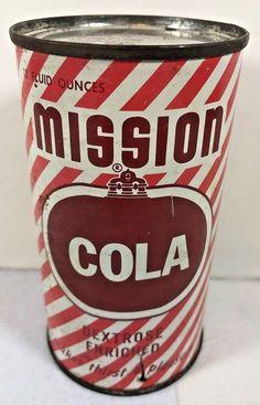 Vintage Mission Cola Can #MissionCola