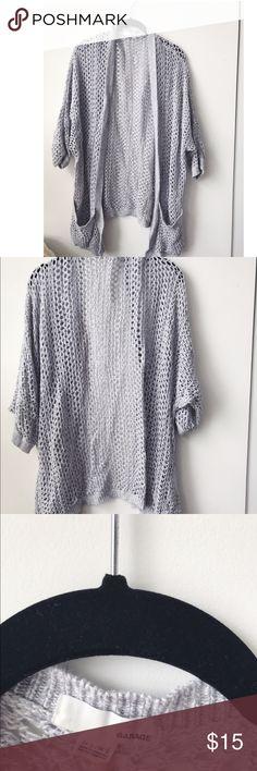 lightweight gray knit garage sweater  m/L lightweight gray knit garage sweater  size m/L perfect for summer Garage Sweaters Cardigans