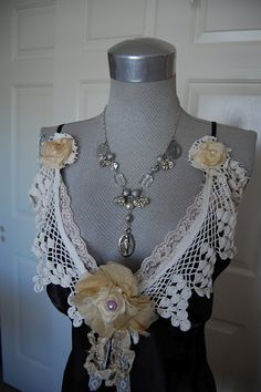 beautiful altered slip or just a necklace