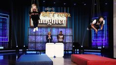 "Guest host Kristen Bell was left hanging as she and her mom played against Jamie Foxx and his daughter Corinne in a hilarious round of ""You Bet Your Daughter""! The Ellen Show, Kristen Bell, Played Yourself, Movie Tv, To My Daughter, Hilarious, Actors, Humor, Youtube"