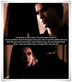 i dont know about anyone else but i cried during this scene.. this was one of the few times we seen damon so emotional!!! #EpicDelenamoment.