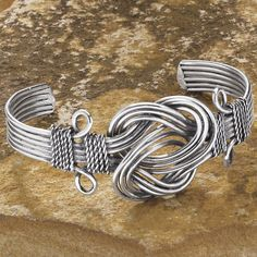 Silverplate Eternity Knot Adjustable Bracelet