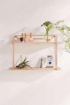 rose gold shelf