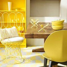 Yellow interiors/decor