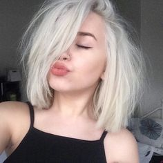 Platinum blonde hair                                                                                                                                                      More