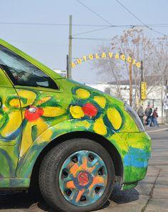 #Flower #Car #Milan #Italy
