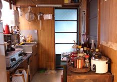 Old, tiny, and functional. #kitchen #tokyo
