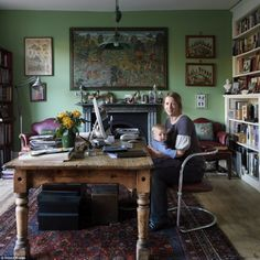 Journalist and cookery writer Daisy Garnett painted the room in Farrow & Ball's Folly Green