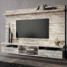 25 Coolest DIY Wood Pallet TV Console Ideas for Your Project A TV console is such a must-have furniture that every living room should have. It provides the better spot to put your flat TV and other living room stuff. Tv Pallet, Wood Pallets, Tv Furniture, Pallet Furniture, Online Furniture, Muebles Rack Tv, Painel Home, Tv Wall Panel, Modern Tv Wall Units