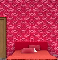 Reusable geometric wall Stencil - 04 - Stencils for wall painting ideas, DIY home decor