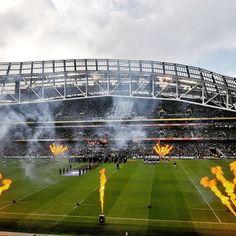 The Aviva stadium at Lansdown Road just before Ireland beat Italy in the 6 Nations. Galaxy S8, Dublin, Rugby, Ireland, Samsung, Italy, Photos, Instagram, Italia