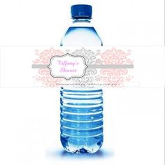 Custom Water Bottle Labels - Shower Pink - 30 - Color - Waterproof ...... | Niche_eNVy - Paper/Books on ArtFire