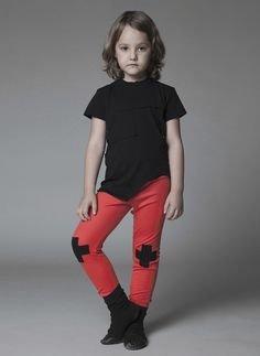Nununu Plus Leggings in Red