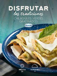 Cuando tienes antojo de chilaquiles y te sorprenden con esta receta. #recetas #receta #quesophiladelphia #philadelphia #crema #quesocrema #queso #comida #cena #chilaquiles #comidamexicana