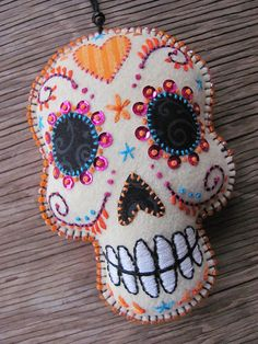 Day of the Dead Embroidered Sugar Skull
