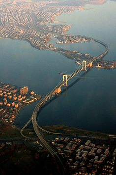 Throgs Neck Bridge, NY. connecting Long Island to NYC.
