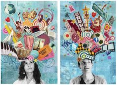 Love this for a first project - identity collage art thérapeute, high school art, Collage Kunst, Art Du Collage, Kids Collage, Collage Ideas, Art Collages, Collage Artists, Club D'art, Art Club, Classe D'art