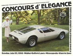 1969 De Tomaso Mangusta Poster