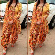 The magic of Patiala Salwar Suit / Punjabi suit salvar - Panjabi Club Latest Punjabi Suits Design, Punjabi Suit Neck Designs, Patiala Suit Designs, Indian Designer Suits, Salwar Designs, Neck Designs For Suits, Kurti Designs Party Wear, Designs For Dresses, Pakistani Dress Design