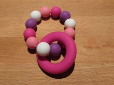 Silicone Teething Ring A beautiful colourful teether that your baby will love! The ring and beads are made from food grade Teething, Food Grade, Beads, Handmade Gifts, Rings, How To Make, Etsy, Beautiful, Beading