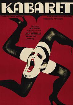 """Film """"Cabaret"""" (1972) Afiche polaco para la promoción de la película."""