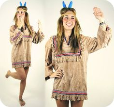 Vintage Native American Fringe Top Costume