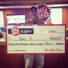 Gary won $29,7000 playing Penny Keno in #Omaha!