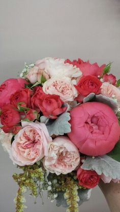 Peony rose,David Austin roses and andromeda bouquet