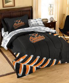 This would look great in his room.  Take a look at this The Northwest Company Baltimore Orioles Bedding Set on zulily today!