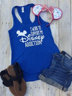 Check out this item in my Etsy shop https://www.etsy.com/listing/602602055/disney-shirt-i-work-to-support-my-disney