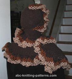 ABC Knitting Patterns - Ruffled Stole, #crochet, free pattern, #haken, gratis patroon, ruffle shawl, sjaal