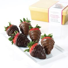 Milk and Dark Chocolate Dipped Strawberries