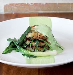 Potato-and-leek rosti with spinach foam Food Categories, Side Recipes, Recipe Collection, Potato Recipes, A Food, Spinach, Food Processor Recipes, Vegetarian Recipes, Healthy Lifestyle