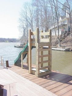 The Boathouse: a new definition to lakefront living! Lac Louise, Lakeside Living, Pond Life, Lake Cabins, Lake Cottage, Boat Dock, In Ground Pools, Above Ground Pool Slide, River House