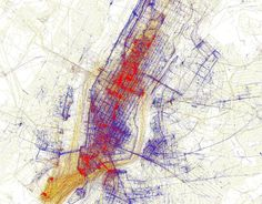 These Gorgeous Maps Show The Worlds Great Cities From A Locals POV - Eric Fischer
